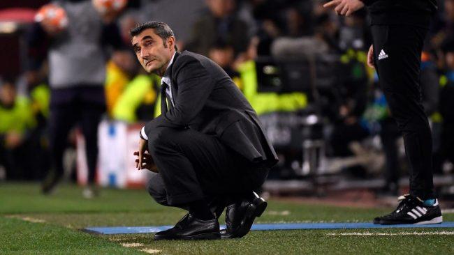 kekelahan Barcelona membuat sang pelatih, Ernesto Valverde terancam posisinya