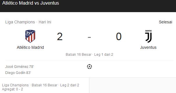 Atletico Madrid Vs Juventus Leg 2 Liga Champions