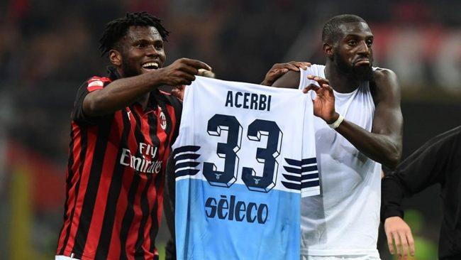 Dua pemain asal AC Milan, Tiemoue Bakayoko dan Franck Kessi terlibat kontraversi saat menjalankan laga AC Milan kontra Lazio